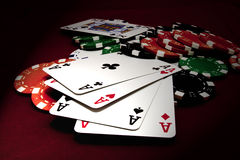 Quads Aces Stock Image