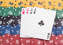 Quads aces Royalty Free Stock Photo