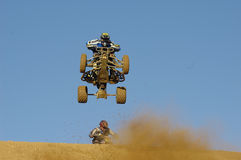 Quads in a jump Stock Photos