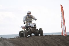 Quads at motocross race Stock Photos