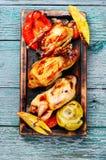 Quaglia fritta deliziosa fotografie stock libere da diritti