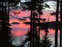 Quahog ηλιοβασιλέματος κόλπος 1 στοκ φωτογραφία