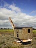 Quai abandonné de rive Image stock