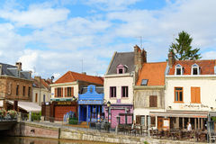 Quai Belu, Saint Leu Quarter in Amiens, France Stock Photo