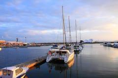 Quai chinois de yacht de Qingdao Image libre de droits