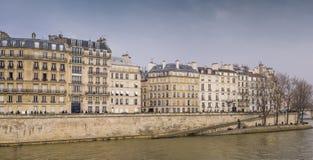 Quai d'Orléans houses, Paris Stock Photo