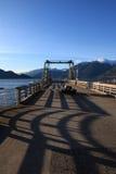Quai de crique de Porteau, BC Photographie stock libre de droits
