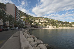 Quai de l'Amiral Courbet, Villefranche-sur-Mer, France Royalty Free Stock Photography