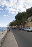 Quai de l'Amiral Courbet, Villefranche-sur-Mer, France Royalty Free Stock Images