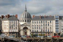 Quai de La Fosse à Nantes en Loire Atlantique photos stock