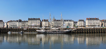 Quai de la fosse Royalty Free Stock Photography