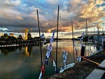 Quai de la Loire i Nantes Frankrike arkivbilder