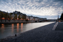 Quai de la Tournelle, Paris Royalty Free Stock Images