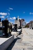 Quai de port de Boston Photographie stock