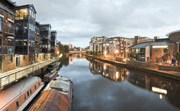 Quai de rivière de Leeds Image stock