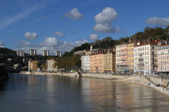 Quai de Saone Royalty Free Stock Photography