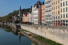 Quai de Saone and Saint Georges Royalty Free Stock Photo