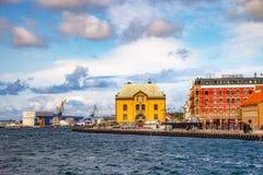 Quai de Stavanger Images libres de droits
