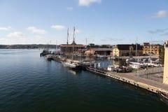 Quai de Svendborg images stock