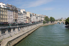 Quai des Grands Augustins, Paris Royalty Free Stock Photos