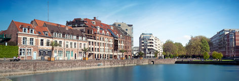 Quai du Wault in Lille - France Royalty Free Stock Image