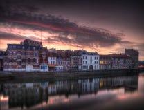 Quai du Wault in Lille - Frankreich stockbilder