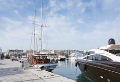 Quai et promenade de port d'Ibiza Photographie stock