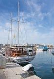 Quai et promenade de port d'Ibiza Images libres de droits