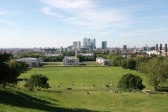 quai jaune canari de l'Angleterre Greenwich Londres Photographie stock libre de droits