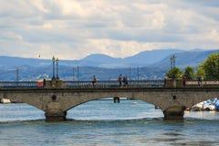 Quaibrücke Bridge. Quaibrücke Bridge ,Zurich ,Switzerland Stock Photo