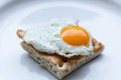 Quail egg as fried egg Stock Photography