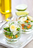 Quail egg and pea salad Stock Photography