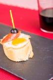 Quail egg tapa Stock Photos