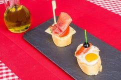 Quail egg tapa Stock Photo