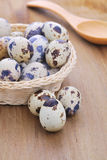 Quail Egg  on  wooden table. Quail Egg Stock Photos