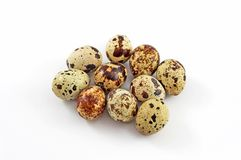 Quail Eggs. Isolated on white Royalty Free Stock Images