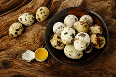 Quail eggs in  bowl Royalty Free Stock Photos
