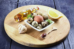 Quail eggs in a bowl Royalty Free Stock Photo