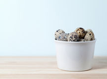 Quail eggs in a bowl Stock Photography