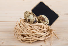 Quail eggs for easter Stock Photography
