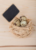 Quail eggs for easter Royalty Free Stock Photo