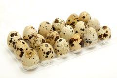Quail Eggs. Fresh Quail Eggs and white background Royalty Free Stock Images