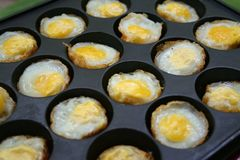 Quail eggs fried Royalty Free Stock Images