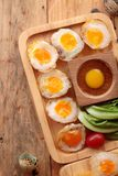 Quail eggs and fried quail eggs of delicious. Stock Image