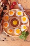 Quail eggs and fried quail eggs of delicious. Stock Photography