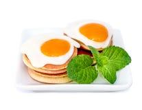 Quail eggs stock image