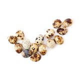 Quail eggs isolated over white background Stock Photography
