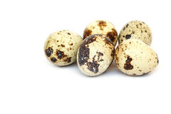 Quail eggs isolated on white Royalty Free Stock Photo