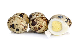 Quail eggs are isolated on white background Stock Photography