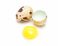Quail eggs isolated Royalty Free Stock Images